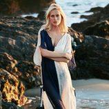 Poppy Delevingne vestido transparente para 'Solid & Striped' en la nueva colección de verano 2016