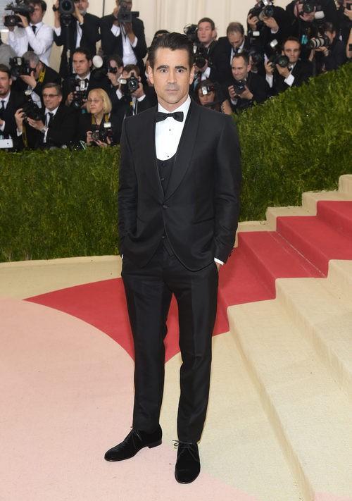 Colin Farrell en la alfombra roja de la Gala Met 2016