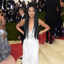 Vera Wang en la alfombra roja de la Gala Met 2016