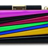 Clutch de colores de la colección de Sara Batagglia para Salvatore Ferragamo