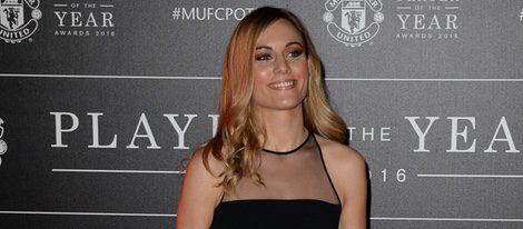 Edurne con un vestido negro en la gala del Manchester United del Jugador del Año