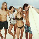Modelos posando para la nueva campaña de verano de H&M
