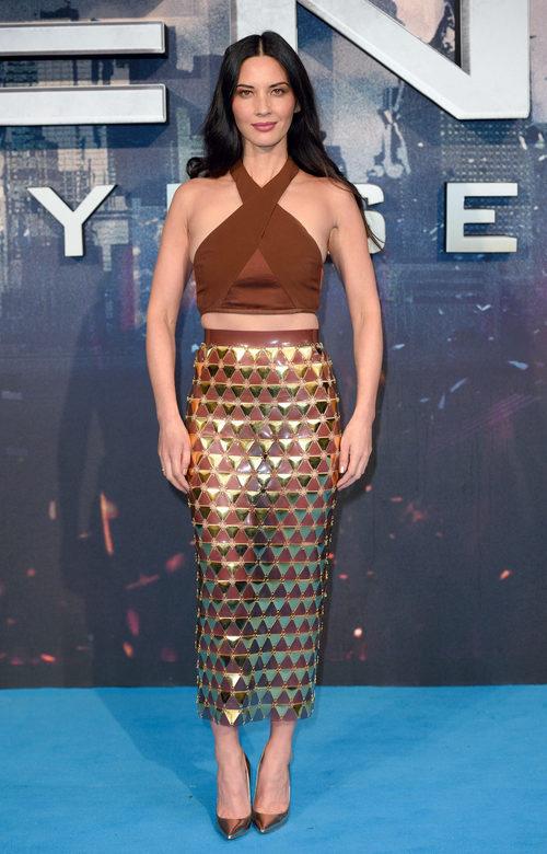 Olivia Munn con un dos piezas de Balmain en el estreno de 'X-Men: Apocalipsis' en Londres