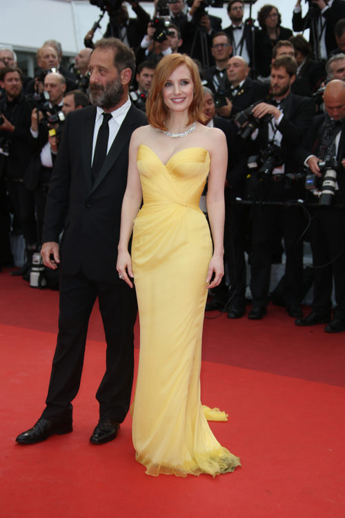 Jessica Chastain en la alfombra roja del Festival de Cannes 2016
