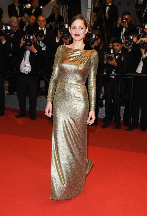 Marion Cotillard con un Christian Dior en el estreno de 'Mal De Pierres' en Cannes 2016