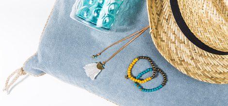 sombrero y pulseras de la colección de bisutería primavera/verano 2016 de GOCCO