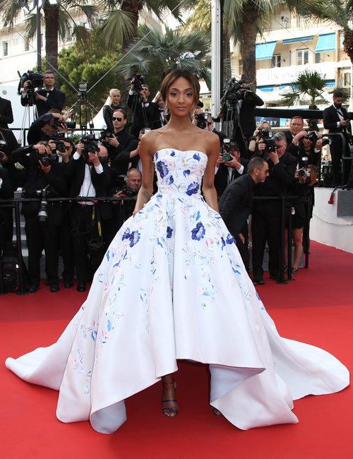 Jourdan Dunn en la alfombra roja del Festival de Cannes 2016