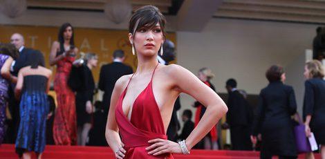 Bella Hadid en la alfombra roja del Festival de Cannes 2016