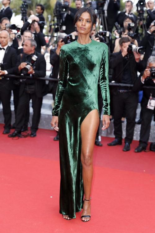 Liya Kebede en la alfombra roja del Festival de Cannes 2016