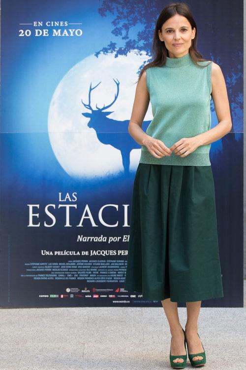 Elena Anaya en la presentación de la película 'Las estaciones' en Madrid
