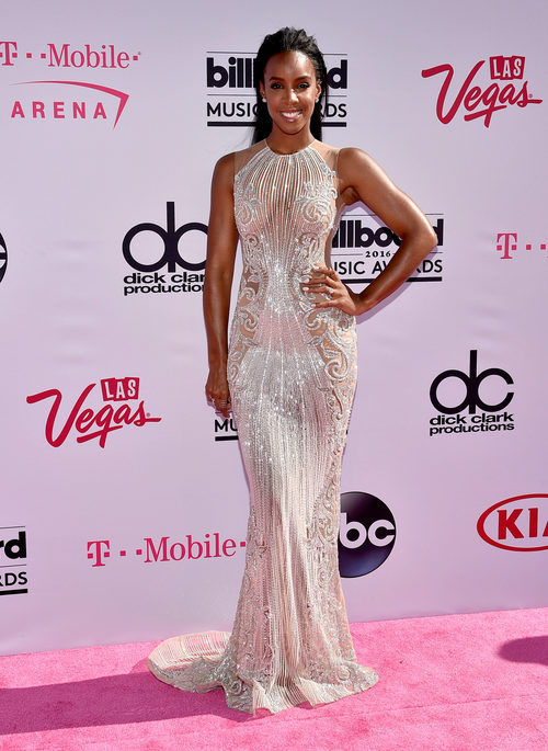 Kelly Rowland en la alfombra roja de los Premios Billboard 2016