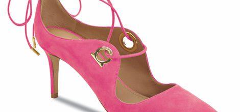 Stilettos rosados en gamuza de la colección otoño 2016 de Salvatore Ferragamo