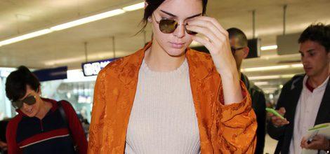 Kendall Jenner en el aeropuerto de Niza rumbo a Cannes 2016