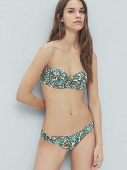 Bikini print tropical de la colección de baño 2016 de Mango