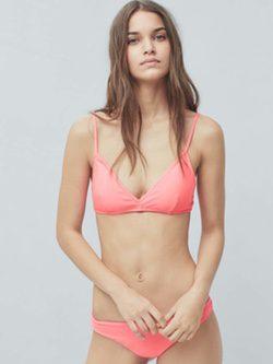 Bikini color salmón de la colección de baño 2016 de Mango