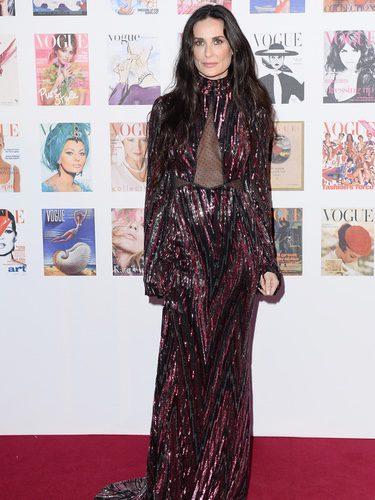 Demi Moore en la fiesta del 100 aniversario de Vogue