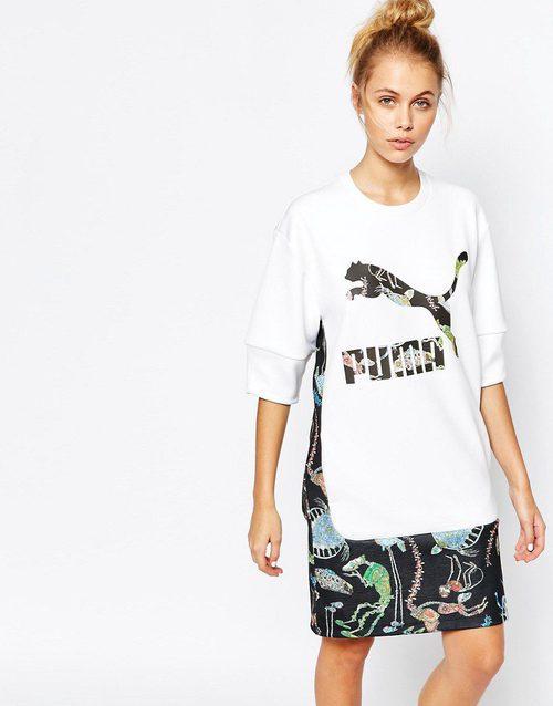 Vestido deportivo oversize de la colaboración de Puma para ASOS