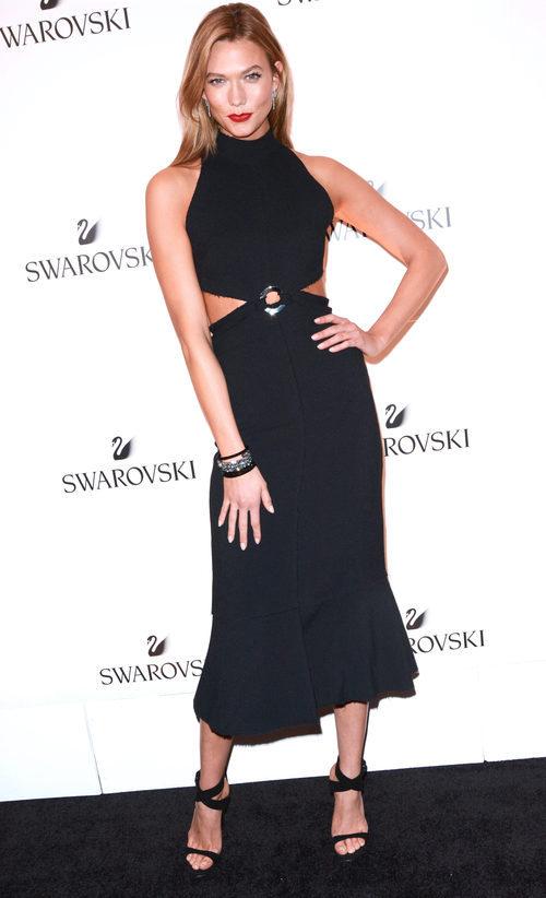 Karlie Kloss en el evento que la anuncia como nueva embajadora de swarovski