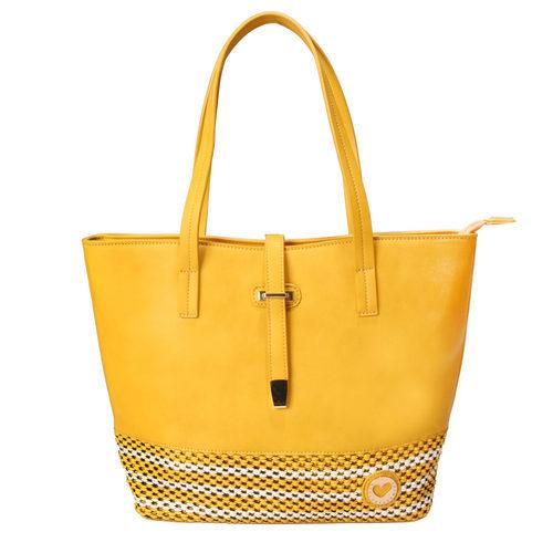 Cartera de cuero amarilla de la colección de verano 2016 de Lola Casademunt