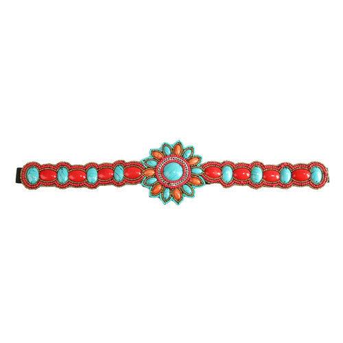Cinturón en pedrería floral de la colección de verano 2016 de Lola Casademunt
