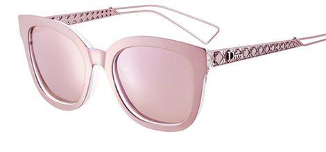 Gafas rosadas metalizadas de la colección diorama de Dior