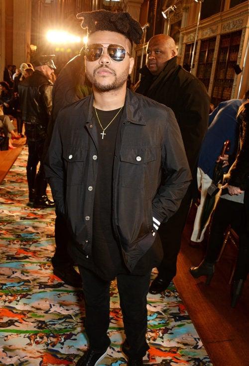 The Weeknd en el Front Row del desfile Crucero 2017 de Dior