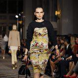 Vestido con estampado pictórico para la colección Crucero 2017 de Dior en Londres