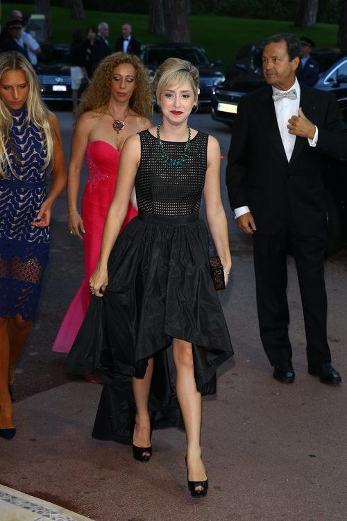 Jazmin Grace Grimaldi en una cena de gala en Mónaco