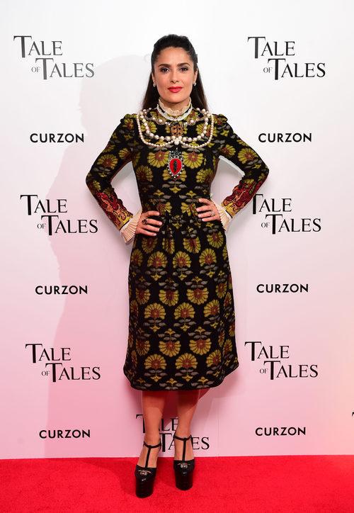 Salma Hayek en la premiere de 'El cuento de los cuentos' en Reino Unido