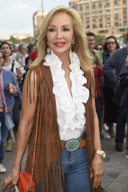 Carmen Lomana en el concierto de Paul McCartney en Madrid