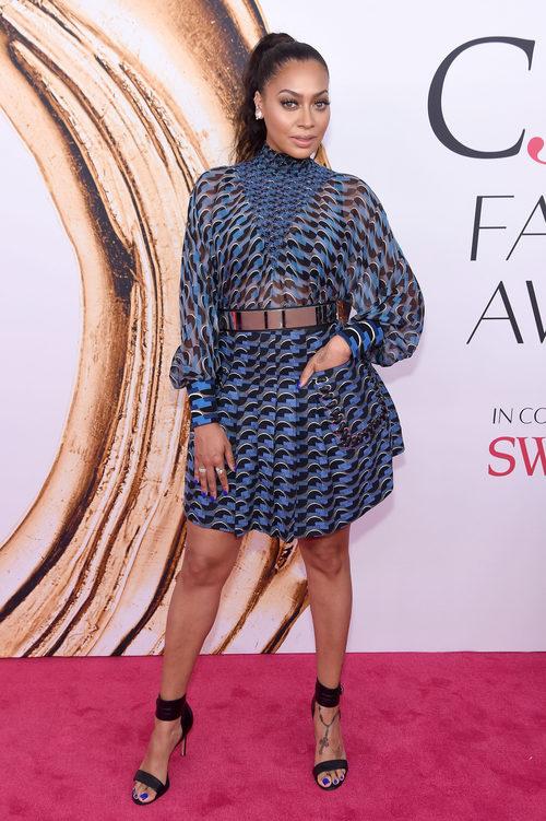 La La Anthony en la alfombra roja de los Premios CFDA Fashion 2016