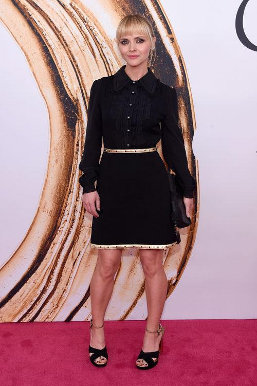 Christina Ricci en la alfombra roja de los Premios CFDA Fashion 2016