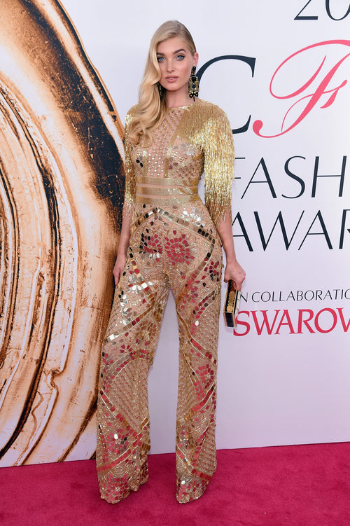 Elsa Hosk en la alfombra roja de los Premios CFDA Fashion 2016