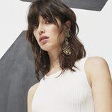 Top blanco para la nueva colección Pre Fall 2016 de Uterqüe