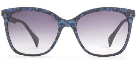 Gafas de sol cuadradas print tropical para la nueva colección de Eye Blue Summer de Italia 2016 Independent