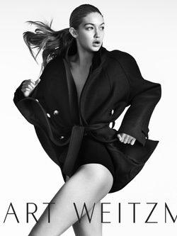 Gigi Hadid como embajadora de la nueva colección Otoño 2016 de Stuart Weitzman