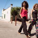 Pantalones vaporosos con estampado floral y tops con tonalidades llamativas de la colección Summer 2016 de H&M