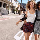 Minivestido de rayas marineras y falda estampada floral de la colección Summer 2016 de H&M