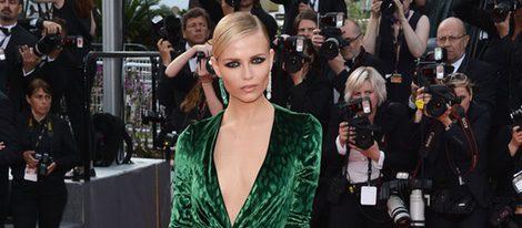 Natasha Poly con un vestido Gucci en el estreno de 'Madagascar 3' en Cannes 2012