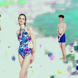 Modelo posando con bikini para la nueva campaña 'Swim color' para este verano 2016 de Oysho