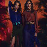 Conjunto de falda larga y pantalón con tonos tierra para la nueva colección SS17 de Balmain