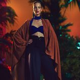 Kimono y pantalón con apertura en tonos azules para la nueva colección SS17 de Balmain