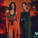 jumpsuit en tono verde olivo y naranjas amanecer para la nueva colección SS17 de Balmain