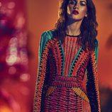 Vestido corto con estampado en pedrería en colores para la nueva colección SS17 de Balmain