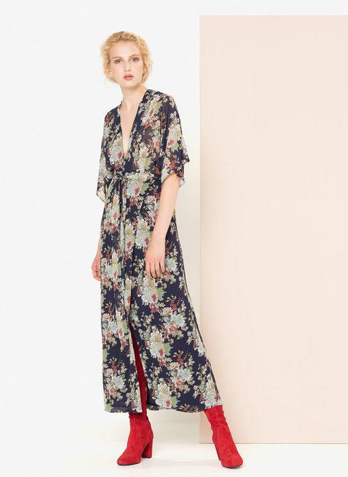Vestido print floral estilo lencero de la nueva colección otoño/invierno 2016 de Uterqüe