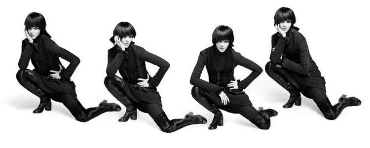 Mariacarla Boscono repetida posando como imagen  de la nueva precampaña otoño/invierno 2016 de Chanel