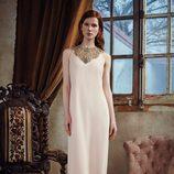 Vestido largo en tono nude de la nueva colección otoño-invierno 2016/2017 de Dolores Promesas Heaven