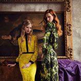 Vestidos crochet amarillo y estampado de la nueva colección otoño-invierno 2016/2017 de Dolores Promesas Heaven
