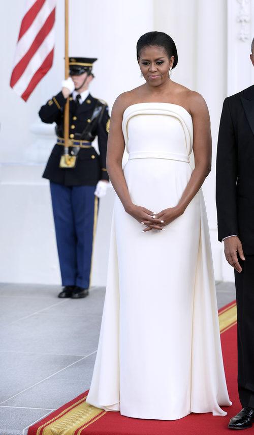 Michelle Obama en una cena de gala