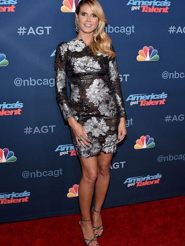 Heidi Klum en el photocall de 'Got Talent'